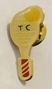 Chausay-Tennis-Club-France-Advertising-Pin-Badge-Vintage-C24