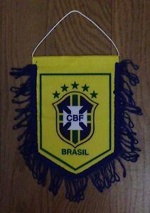 "Banderín / Pennant / Galhardete Escudo Cbf - Brasil - ""la Canarinha"" Forfaits à La Mode Et Attrayants"