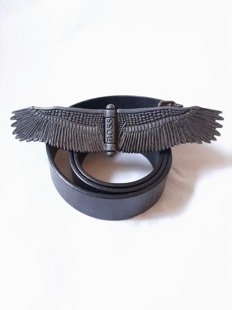 Mens Belt by BOSS Black Length 92 CM - 101 cm