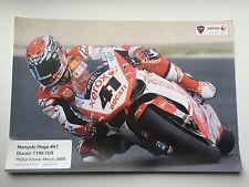 Noriyuki Haga Unsigned Ducati Phillip Island Poster SBK.