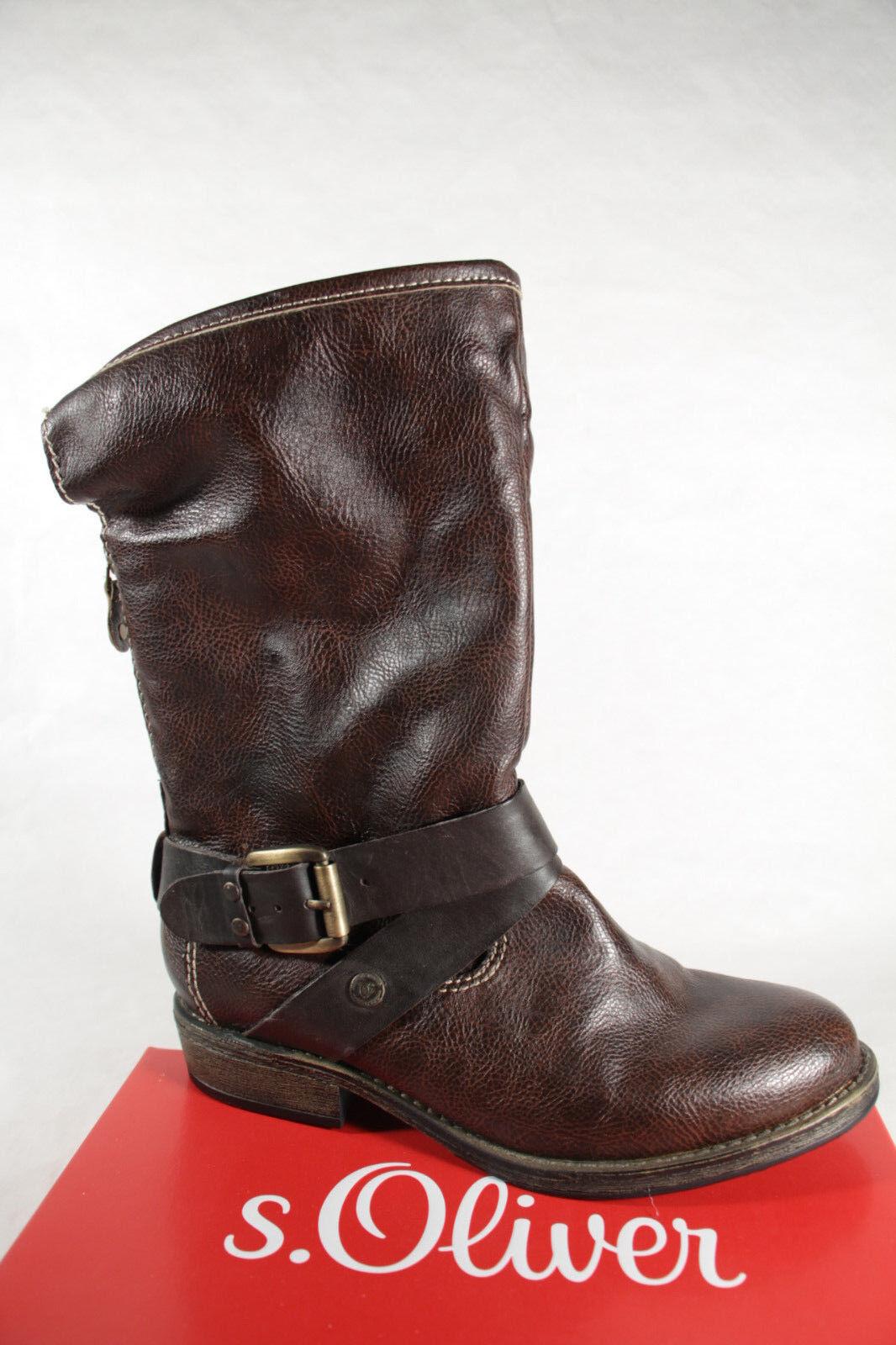 S.OLIVER 26350 botas, botas, botas, Botines botas de Invierno Marrón Nuevo  saludable