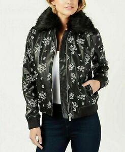 MICHAEL-KORS-WOMENS-BLACK-NWT-FLORAL-EMBROIDERED-BOMBER-JACKET-large-L