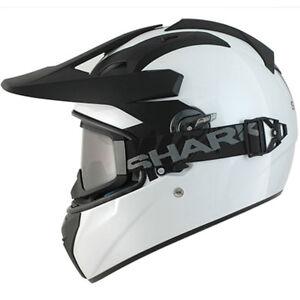 Shark Explorer R Blanc Moto Adventure Casque Lunettes Pour Marche