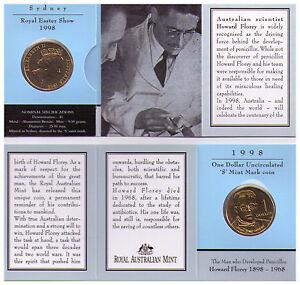 "1993 /""S/"" ROYAL EASTER SHOW $1 Dollar Coin /"" Landcare /""  Mintmark UNC In Folder"