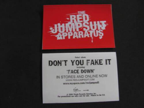 Red Jumpsuit Apparatus Face Down Bike Board Sticker Car
