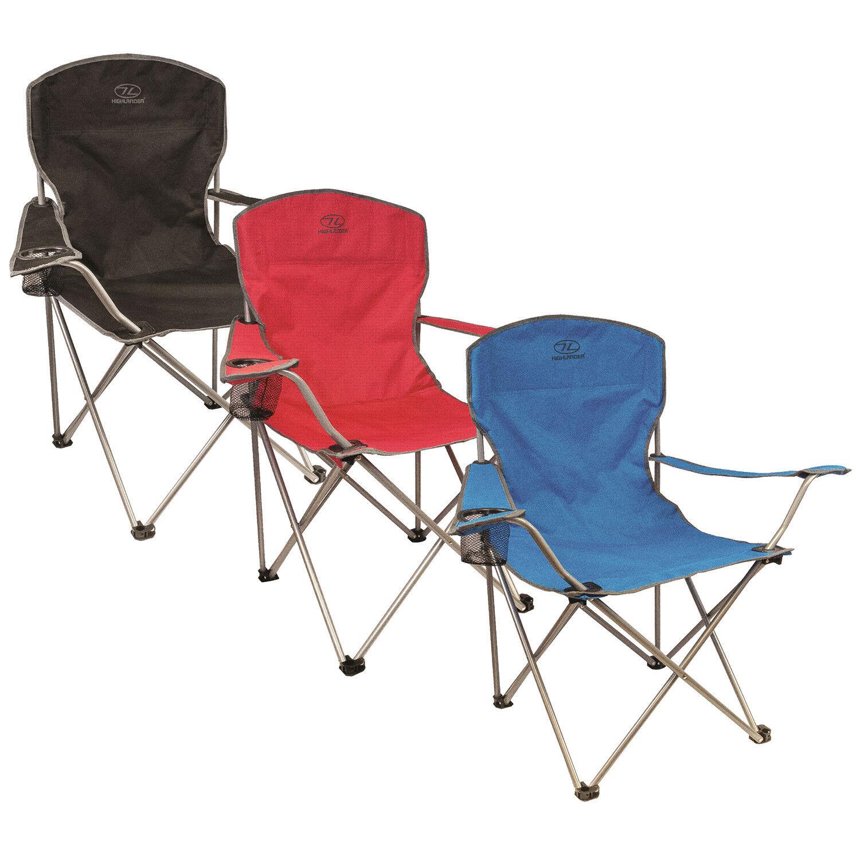 Leicht tragbar faltbar Zelt Stuhl Sitz Traquair in Blau Schwarz Rot