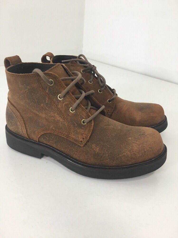 New Men's Wolverine Rough Leather Boots Size US 8M Brown