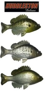 HUDDLESTON-DELUXE-BLUEGILL-TOP-HOOK-ROF-12-WEEDLESS-SWIMBAITS-SELECT-COLOR