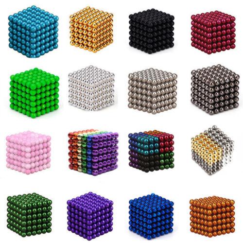 216Pcs 3/5mm 3D Magic Bucky Magnet Balls Sphere Cube Beads Building Kid Toys