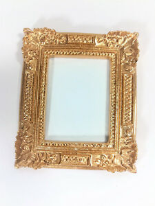 Dollhouse Miniature Large Gold Picture Frame