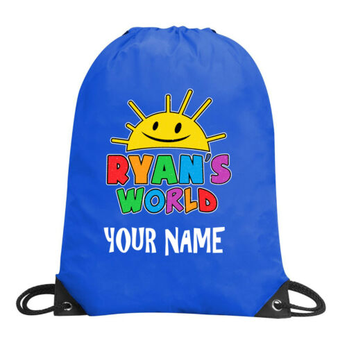 Ryans Toys Review Personalized Drawstring Bag PE Ballet Swimming Personalized-3