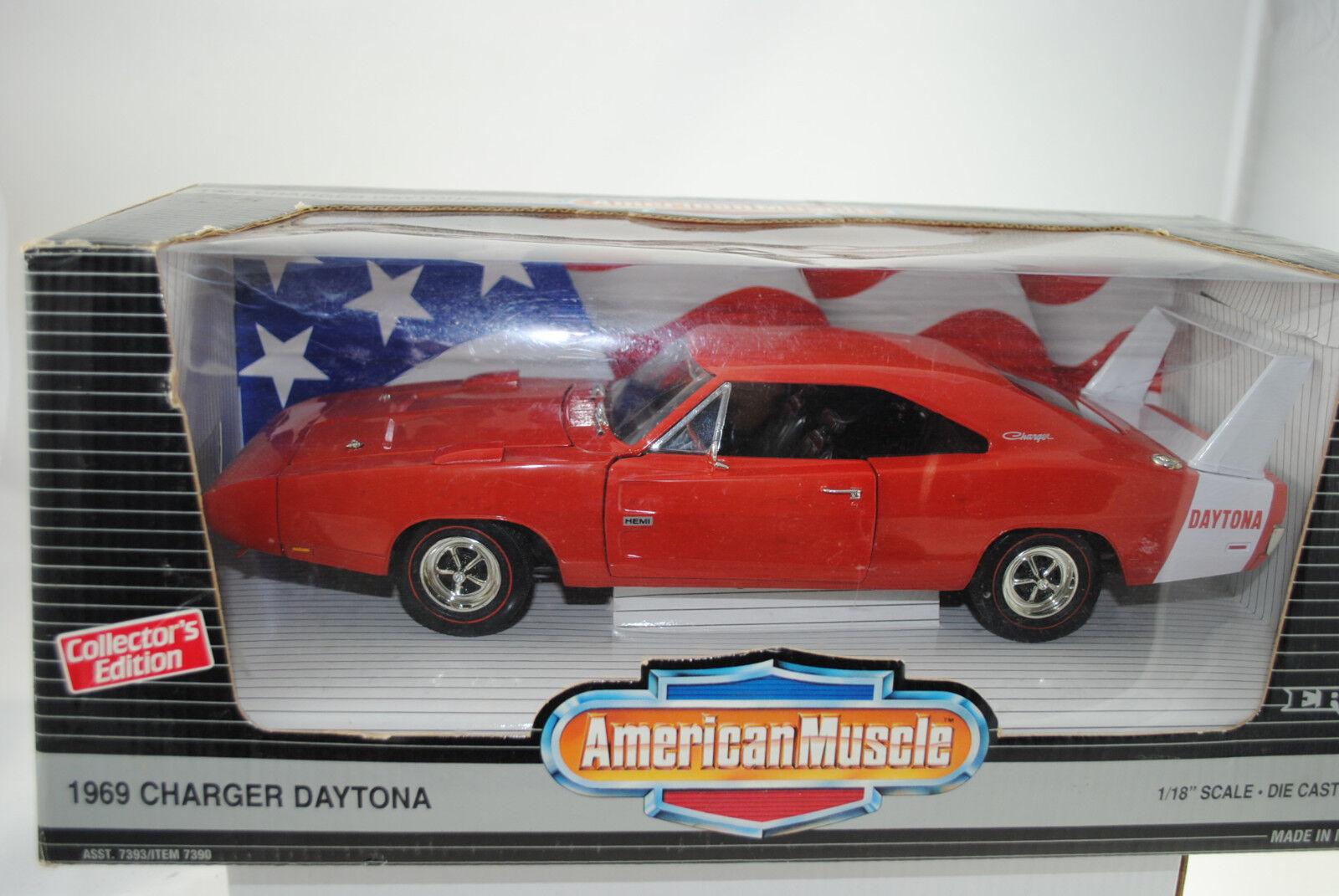 1 18 ertl - 1969 Charger Daytona Hemi rosso rareza-nuevo en el embalaje original