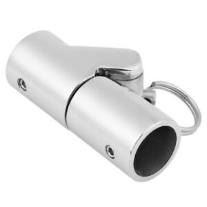Boat-Folding-Swivel-Coupling-Tube-Pipe-Connector-22-25mm-Marine-Stainless-Steel