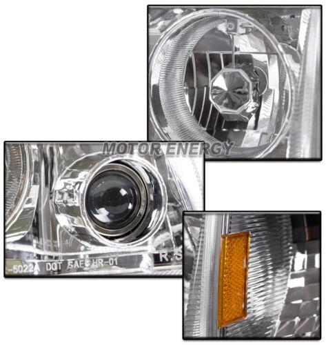 93-97 FORD RANGER CHROME HEAD LIGHT+PROJECTOR FOG LAMP W//BLUE DRL LED+6K HID KIT