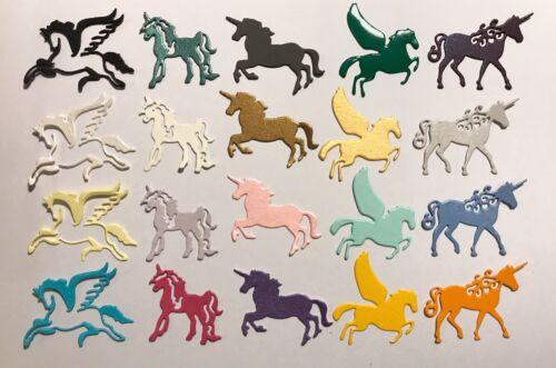 Multi Coloured Bargain Pack of 20 Mini Unicorn Die-cuts
