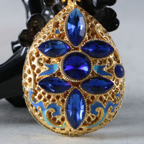 Chinese Delicate Cloisonne Inlaid Rhinestone Pendant