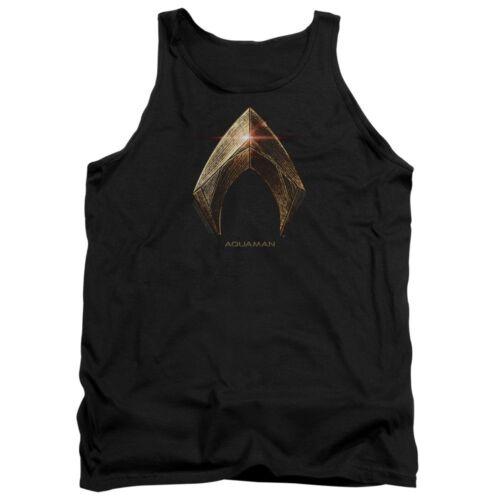 Authentic The Justice League Movie Aquaman Logo Tank Top T-shirt S M L X 2X