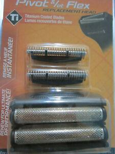 Remington-Replacement-Heads-Cutters-SP290-Pivot-amp-Flex-Titanium-Coated-Blades