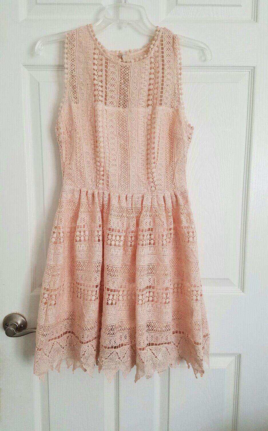 BB Dakota Elissa Peach Bossom Sleeveless Crochet Lace Summer Dress Sz 2 NWT
