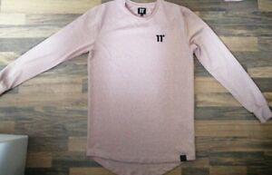 11-degrees-Dusty-pink-long-sleeves-crew-neck-t-shirt-size-medium