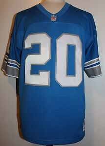 the latest 177cc b537b Details about Barry Sanders #20 Detroit Lions Throwback Jersey Mitchell &  Ness Jersey - Blue