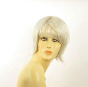 Perruque femme blanche cheveux lisses ref