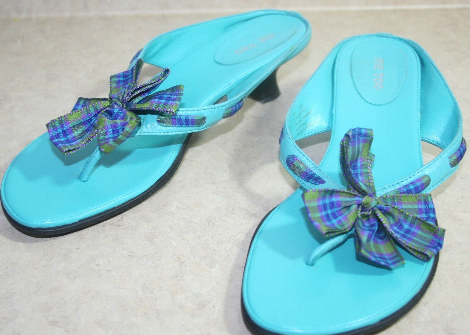 r- SHOES WOMENS SZ SHOE 7.5 FLIP FLOP SANDALS SHOE SZ TURQUOISE 2