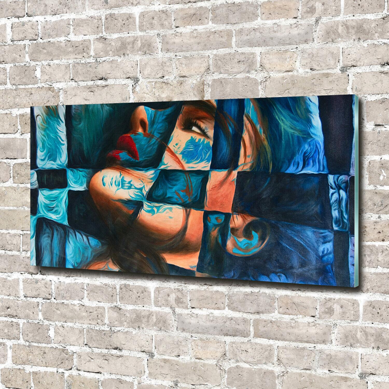 Acrylglas-Bild Wandbilder Druck 140x70 Deko Kunst Frau Abstraktion