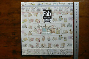 SWEET-BABY-12x12-Pk-24-Papers-3-of-each-8-Dbl-Sided-designs-by-Fab-Scraps