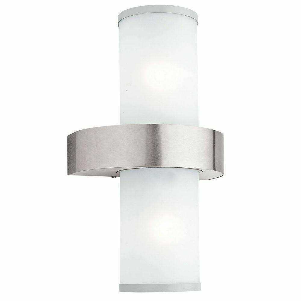 una marca di lusso EGLO 86541 BEVERLY-Esterno-Lampada da parete 2-bruciatori in acciaio inox argento argento argento bianco  buon prezzo