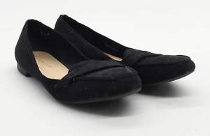 New-Look-Womens-UK-Size-6-Black-Suede-Dolly-Shoes