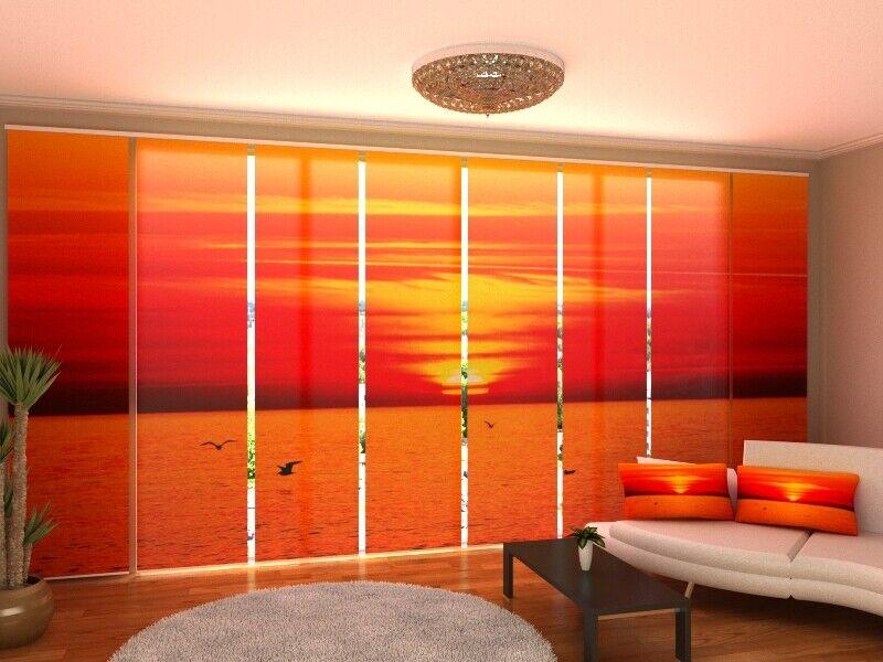 Fotogardine mar sol cortina de paneles SANELA cortina a medida