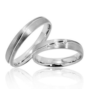 Eheringe silber  2 Trauringe Silber 925 mit Gravur+Etui Eheringe Verlobungsringe ...