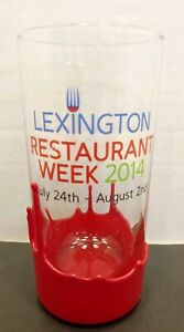 SET-OF-4-LEXINGTON-RESTAURANT-WEEK-2014-GLASSES-HIGHBALL-WAX-DIPPED-MAKERS-MARK