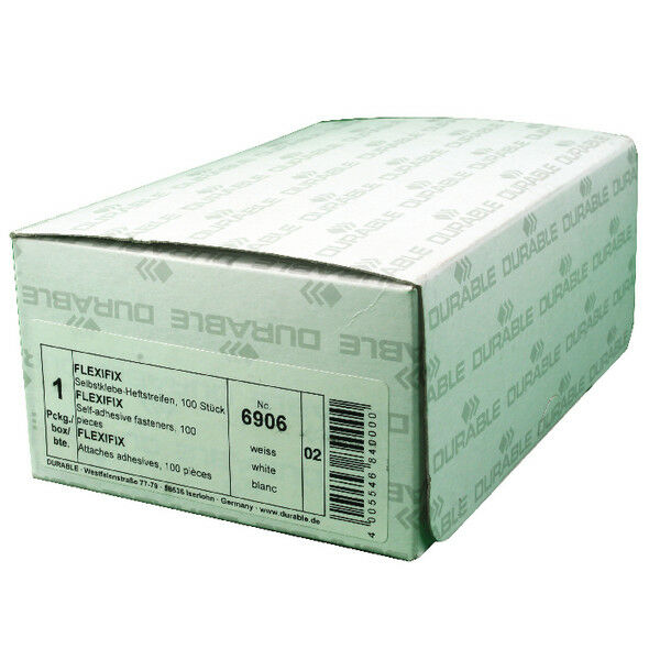 Durable Flexifix Self Adhesive File Fastener (Pack of 100) 6906/02