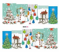 Nail Art Sticker Water Decals Transfer Stickers Xmas Snowman Xmas Tree (DS160)