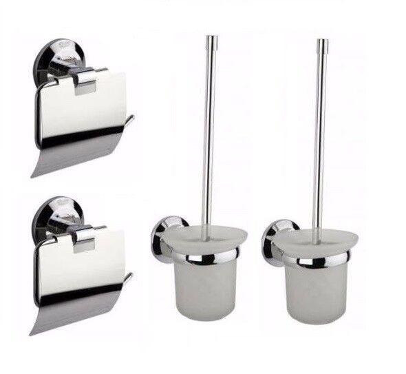 Toilettenpapierhalter Papierhalter Toilettenbürste Wcbürste Klobürste Set Wc Bad