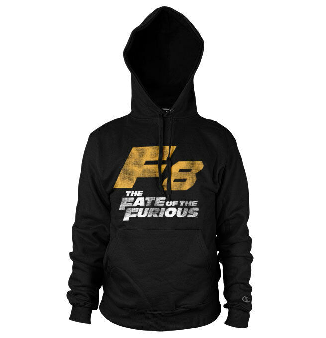 Officially Licensed Fast and Furious- F8 Distressed Logo Hoodie S-XXL Größes