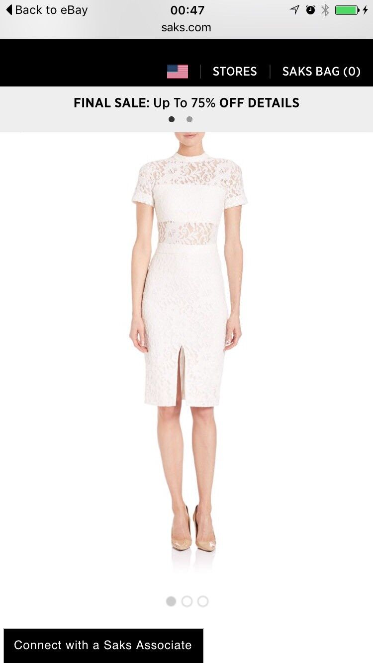 ALEXIS Leona Ivory lace dress Small