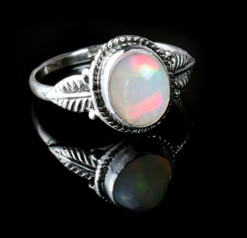 Details about  /Handmade Silver Ring Statement 100/% Natural Ethiopian Fire Opal Gift For Her#395