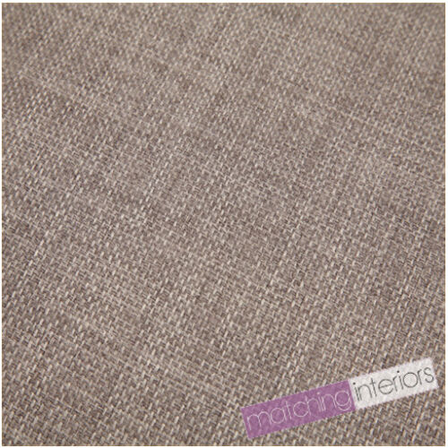Grey Fabric Soft Linen Look Polyester Material Textiles Upholstery Cushion Sofa