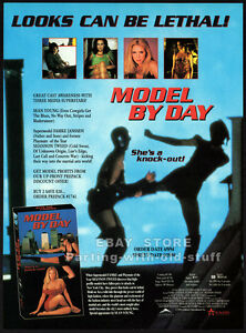 MODEL-BY-DAY-Original-1994-Trade-print-AD-promo-FAMKE-JANSEN-SHANNON-TWEED