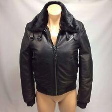 Schott Jacket Bomber Women's Lambskin Leather Made in USA S Black NWOT ID 6875