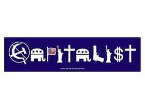 Capitalist-Blue-Bumper-Sticker