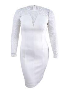 Calvin-Klein-Women-039-s-Illusion-Scuba-Sheath-Dress