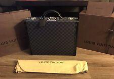 AUTHENTIC Louis Vuitton President Briefcase In Damier Graphite NEW & UNUSED