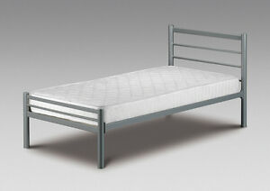 Small Single Bed Metal Frame New 2ft6 Alpen With Or Without
