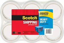 Scotch Heavy Duty Clear Shipping Packaging Tape 188 Inches X 546 Yards 6 Rolls