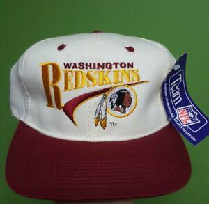 NOS-new-Vintage-90-039-s-drew-pearson-Washington-Redskins-nfl-cap-Snapback-Hat-white