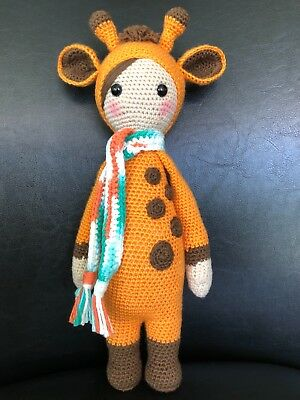 Giraffe Amigurumi toy with ring rattler | 400x300